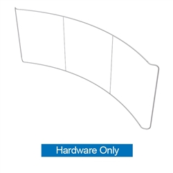Waveline 20ft Curved Single Sided Fabric Display Hardware Only. This Exhibit is an all inclusive display that is affordable, easy to set up and looks professional.