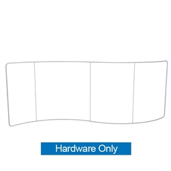 Waveline 20ft Serpentine Single Sided Fabric Display Hardware Only. This Exhibit is an all inclusive display that is affordable, easy to set up and looks professional.