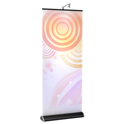 19.7in x 71in Brandstand 3.5 Retractable Banner Stand (Fabric Print Only)
