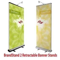 33.5in x 80in Brandstand 2 Double-Sided Retractable Banner Stand (Hardware & Fabric Print)