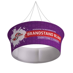 10ft x 48in Blimp Tapered Tube Hanging Tension Fabric Graphic Sign present your brand or convey your message fast, up high and from all directions. Available in exciting shapes and practical sizes to meet any trade show or event need.
