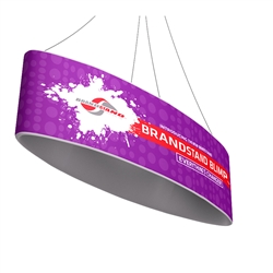 10ft x 32in Blimp Ellipse Hanging Tension Fabric Banner