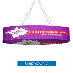 10ft x 36in Blimp Ellipse Hanging Tension Fabric Banner with Printed Bottom (Graphic Only)