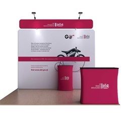 10ft Waveline Media Seahorse B Single-Sided Fabric Trade Show Display, attention grabbing convention booth, is an all inclusive display that is affordable, easy to set up and looks amazing. Large collection of Media Waveline Tension Fabric Displays