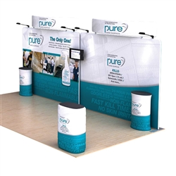 20ft Dolphin C Waveline Media Single-Sided Fabric Trade Show Display Curved Header , attention grabbing convention booth, is an all inclusive display that is affordable, easy to set up and part of an amazing collection of Booth Display Kits