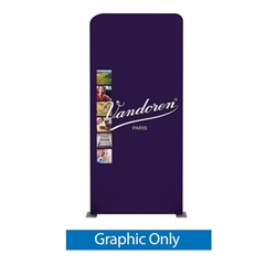 40.6in x 88.9in Waveline Media Panel D Single-Sided (Graphic Only)