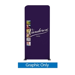 40.6in x 88.9in Waveline Media Panel D Double-Sided (Graphic Only)