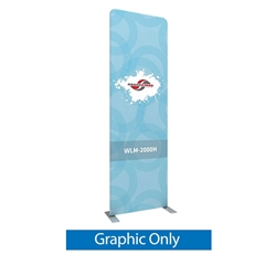 40in x 129.1in Waveline Media Panel H Single-Sided (Graphic Only)