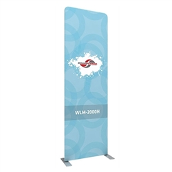 40in x 129.1in WaveLine Media Fabric Display by Makitso - Panel H - Single Sided. Choose this easy, impactful and affordable display to stand out from your competition at your next trade show.