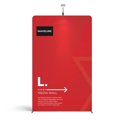 79in X 129.1in WaveLine Media Fabric Display by Makitso - Panel L - Single Sided. Choose this easy, impactful and affordable display to stand out from your competition at your next trade show.