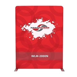 79w X 88.9h Waveline Media Panel N Single Sided Tension fabric displays are easily transported, and are known for their easy assembly, light weight and affordable replacement graphics. Waveline displays are some of most affordable display systems.