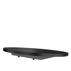 16in Waveline Media Diameter Round Black Shelf