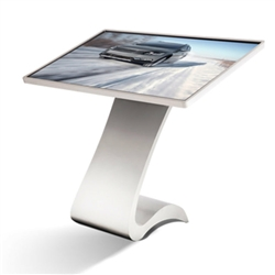 55in Horizontal S-Design Touch Screen Computer Kiosk | Landscape Orientation