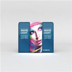 WaveLight backlit displays, the thinnest profile backlit display frames in the trade show & exhibit market, these LED backlit displays will impress. Elevate your brand & draw attention to your trade show booth!
