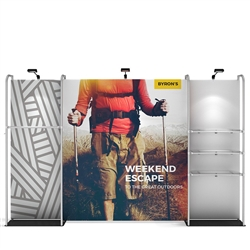 12ft x 8ft Waveline Merchandiser Kit 02 | Single-Sided Tension Fabric Display