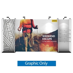 16ft WaveLine Merchandiser - Kit 03 - Single-Sided  Graphic  Only .  Choose this easy, impactful and affordable display to stand out from your competition at your next trade show.