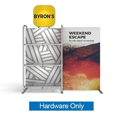 WaveLine Merchandiser - Header - Hardware Only.  Choose this easy, impactful and affordable display to stand out from your competition at your next trade show.