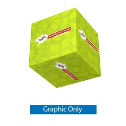 48in x 48in MAKITSO Blimp Cube Single-Sided Replacement Fabric  has four sides to advertise on & is the largest available. It is composed of a cold drawn Aluminum frame that is quick & easy to setup. Dye-Sublimated banners may easily be replaced
