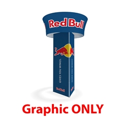"10' x 42"" Makitso Blimp Triangular Tower and Tube Tapered - Graphic Only. ​Built-on a banner frame system made from a lightweight extruded aluminum frames wrapped in a vibrant dye-sublimation graphic print."