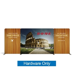 20ft Atlantic A Waveline Media Display | Backwall Hardware Only