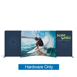 20ft Waveline Media Tension Fabric Display by Makitso - Caribbean-A - Hardware Only.  Choose this easy, impactful and affordable display to stand out from your competition at your next trade show.