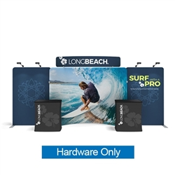 20ft Waveline Media Tension Fabric Display by Makitso - Caribbean-C - Hardware Only.  Choose this easy, impactful and affordable display to stand out from your competition at your next trade show.