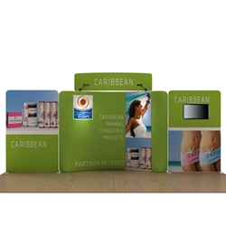 20ft Caribbean C Makitso Waveline Media Display is one of the most popular exhibits. Tension Fabric Displays: largest variety of Waveline 20ft BackWall Kits for trade shows, events.WaveLine straight fabric display creates a sleek and elegant booth