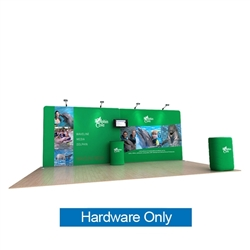 20ft Waveline Media Tension Fabric Display by Makitso - Dolphin A - Hardware Only.  Choose this easy, impactful and affordable display to stand out from your competition at your next trade show.
