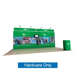 20ft Waveline Media Tension Fabric Display by Makitso - Dolphin B - Hardware Only.  Choose this easy, impactful and affordable display to stand out from your competition at your next trade show.