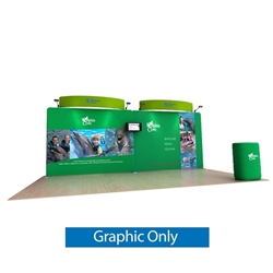 20ft Waveline Media Tension Fabric Display by Makitso - Dolphin C - Single Sided Graphic Only.  Choose this easy, impactful and affordable display to stand out from your competition at your next trade show.