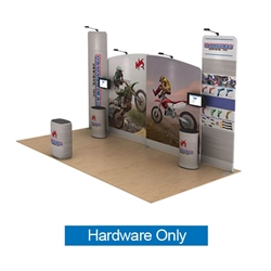 20ft Waveline Media Tension Fabric Display by Makitso -  Hammerhead - Hardware Only.  Choose this easy, impactful and affordable display to stand out from your competition at your next trade show.