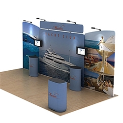 20ft Waveline Media Tension Fabric Display by Makitso -   Marlin B - Single Sided.  Choose this easy, impactful and affordable display to stand out from your competition at your next trade show.