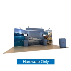20ft Waveline Media Tension Fabric Display by Makitso -   Marlin B - Hardware Only.  Choose this easy, impactful and affordable display to stand out from your competition at your next trade show.