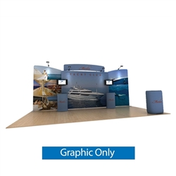 20ft Waveline Media Tension Fabric Display by Makitso -  Marlin C - Double Sided Graphic Only.  Choose this easy, impactful and affordable display to stand out from your competition at your next trade show.
