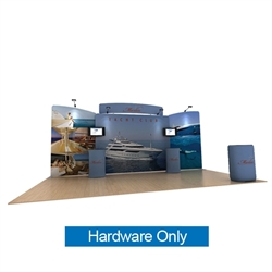 20ft Waveline Media Tension Fabric Display by Makitso -  Marlin C - Hardware Only.  Choose this easy, impactful and affordable display to stand out from your competition at your next trade show.