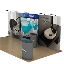 20ft Orca A Waveline Media Display | Single-Sided Tension Fabric Exhibit