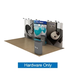20ft Waveline Media Tension Fabric Display by Makitso - Orca A - Hardware Only.  Choose this easy, impactful and affordable display to stand out from your competition at your next trade show.