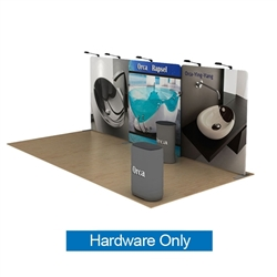 20ft Waveline Media Tension Fabric Display by Makitso - Orca C - Hardware Only.  Choose this easy, impactful and affordable display to stand out from your competition at your next trade show.