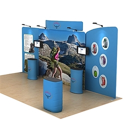 20ft Osprey C Waveline Media Display | Single-Sided Tension Fabric Exhibit