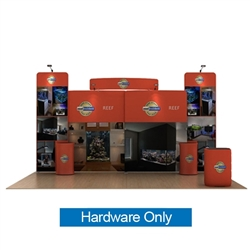 20ft Waveline Media Tension Fabric Display by Makitso -  Reef C - Hardware Only.  Choose this easy, impactful and affordable display to stand out from your competition at your next trade show.