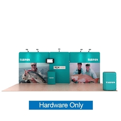 20ft Waveline Media Tension Fabric Display by Makitso - Tarpon-B  - Hardware Only.  Choose this easy, impactful and affordable display to stand out from your competition at your next trade show.