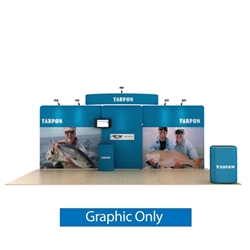 20ft Waveline Media Tension Fabric Display by Makitso -  Tarpon C - Single Sided Graphic Only.  Choose this easy, impactful and affordable display to stand out from your competition at your next trade show.