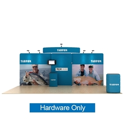 20ft Waveline Media Tension Fabric Display by Makitso -  Tarpon C - Hardware Only.  Choose this easy, impactful and affordable display to stand out from your competition at your next trade show.