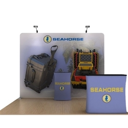 10ft Seahorse A Makitso Waveline Media Kit is one of the most popular exhibits. Tension Fabric Displays: largest variety of Waveline 20ft BackWall Kits for trade shows, events.WaveLine straight fabric display creates a sleek and elegant booth