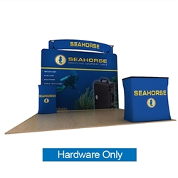 10ft Seahorse C Waveline Media Display | Backwall Hardware Only