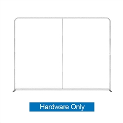 10ft (116in x 88in) WaveLine Media Fabric Display by Makitso - Flat - Hardware Only. Choose this easy, impactful and affordable display to stand out from your competition at your next trade show.