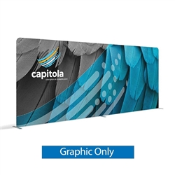 20ft x 8ft . Wide range of tension fabric trade show displays, booths and exhibit solutions to fit your exhibit space.