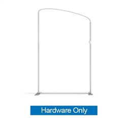 57in x 96in Panel A Waveline Media Frame | Backwall Hardware Only