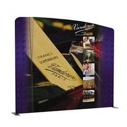 113in x 101in Panel B Waveline Media Display | Single-Sided Tension Fabric Exhibit