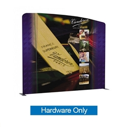 113.2in x 100.7in WaveLine Media Fabric Display by Makitso - Panel B - Hardware Only. Choose this easy, impactful and affordable display to stand out from your competition at your next trade show.